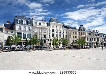 Poitiers, Nouvelle-aquitaine, France - July 03, 2012: Place Du Marechal Leclerc In Poitiers With Arc