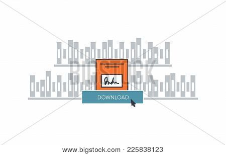 Download E-book Illustrationvector Illustratio For Web Site Of Download The Whitepaper Or Ebook And