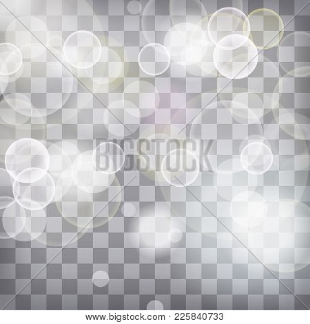 Blue And White Lights Festive Chequered Background With Light Beams