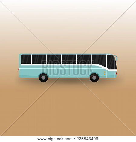Public Bus Transportation Vector Illustration Graphic Design