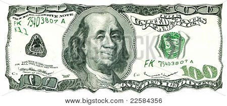 Shaky 100 Us Dollar Bill