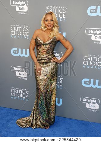 Mary J. Blige at the 23rd Annual Critics' Choice Awards held at the Barker Hangar in Santa Monica, USA on January 11, 2018.