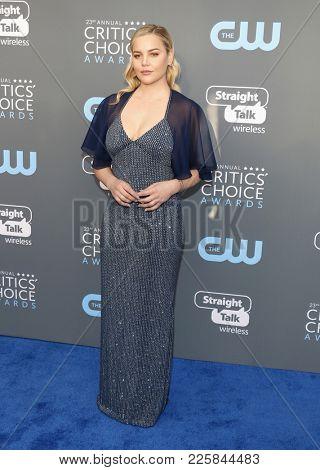 Abbie Cornish at the 23rd Annual Critics' Choice Awards held at the Barker Hangar in Santa Monica, USA on January 11, 2018.