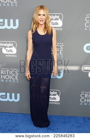 Holly Hunter at the 23rd Annual Critics' Choice Awards held at the Barker Hangar in Santa Monica, USA on January 11, 2018.