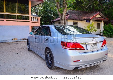 Thailand, Phuket, February 06, 2013: Private Car Toyota Camry. Asian Version With Special Tuning And