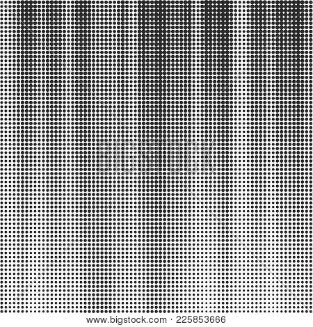 Vector Abstract Halftone Background. Monochrome Dotted Template