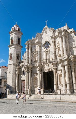 Plaza De La Catedral (english: Cathedral Square) Is One Of The Five Main Squares In Old Havana And T