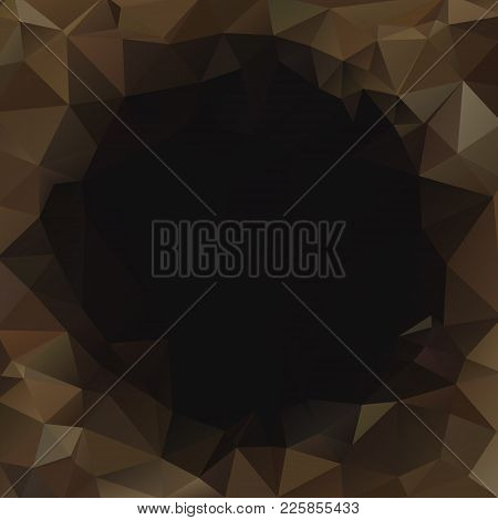 Dark Black Toffy Abstract Polygonal Geometric Horisontal Background -- Low Poly. Vector Illustration