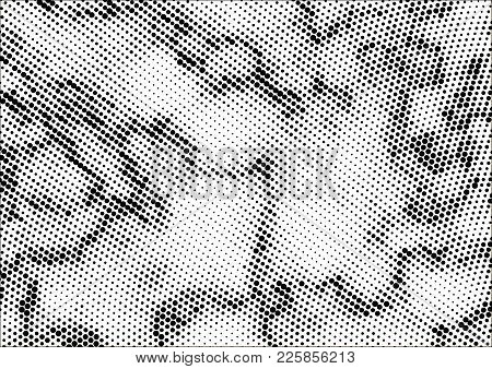 Abstract Halftone Dotted Grunge Pattern Texture. Retro Comic Pop Background. Vector Modern Grunge Ba