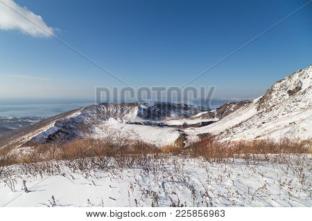 View Of Ginnuma Daikakou Crater From Mount Usu, Toya