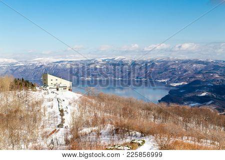 Scenic View Of Lake Toya From Mount Usu Or Usuzan