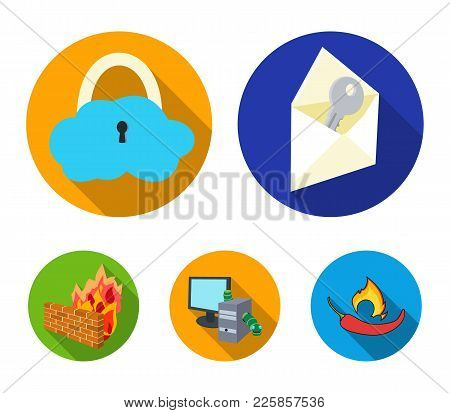 System, Internet, Connection, Code .hackers And Hacking Set Collection Icons In Flat Style Vector Sy