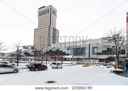 Sapporo, Japan, January 2, 2018: Sapporo Station Is A Railway Station Served By Hakodate Main Line A