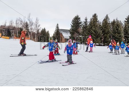 Sapporo, Japan, January 28, 2018: Takino  Suzuran Hillside Park Offers Family Fun Activities During