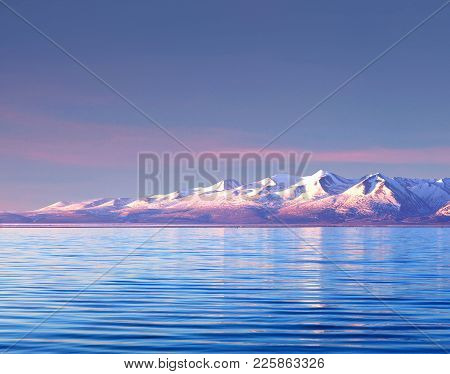 Lake Manasarovar In Western Tibet