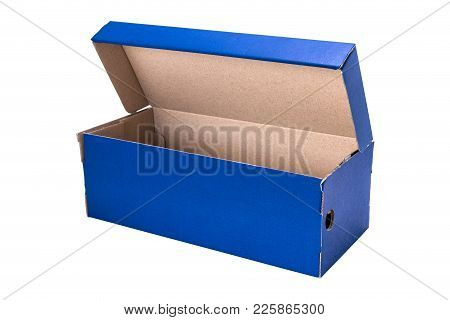 Blue Open Shoe Box