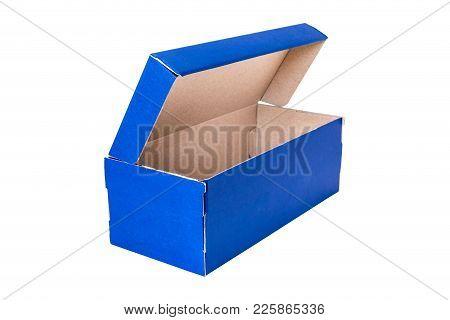 Blue Open Shoe Box