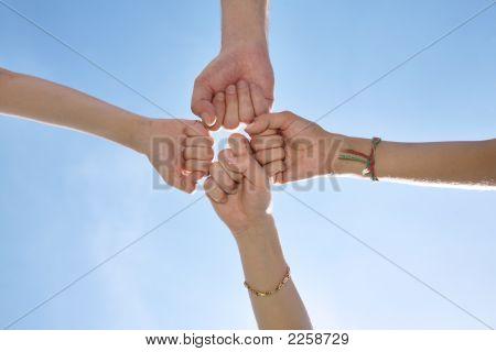 Four Fists On Sky