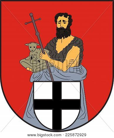 Coat Of Arms Of Wenden Is A Community In North Rhine-westphalia, Germany. Vector Illustration