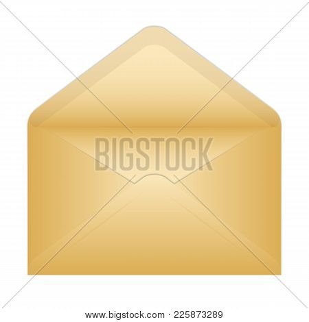Vector Illustration Of An Open Old Envelope. Isolated On White Background
