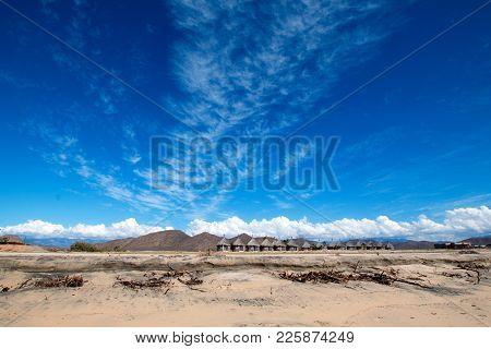 Cirrus Clouds Above Cerritos Beach - Baja California - Mexico Bcs
