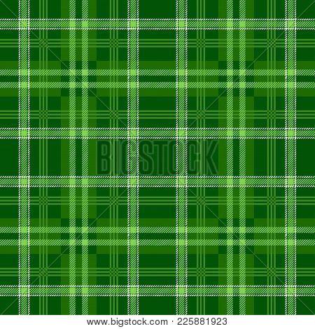 Tartan Seamless Pattern Background. Green Plaid, Tartan Flannel Shirt Patterns. Trendy Tiles Vector