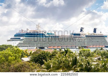 Celebrity Equinox Cruise Ship Headed To Sea