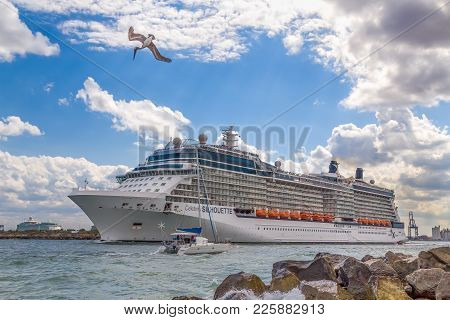 Celebrity Silhouette Cruise Ship Headed To Sea