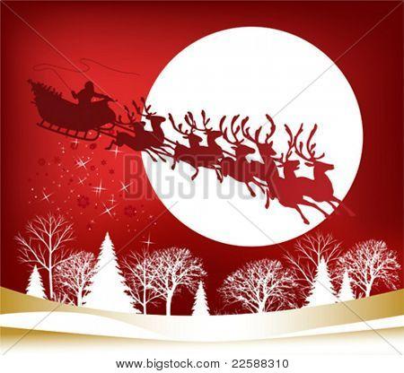 Santa's Sleigh, vector illustration