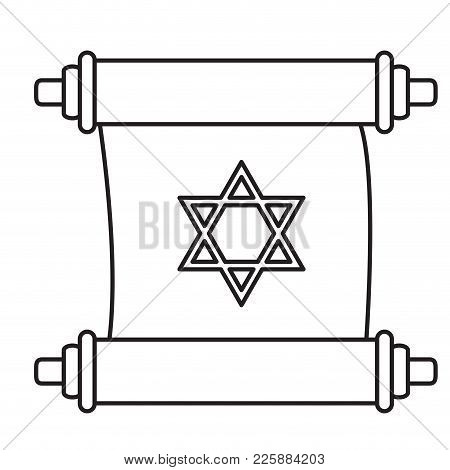 Isolated Traditional Torah Icon. Vector Illustration Design