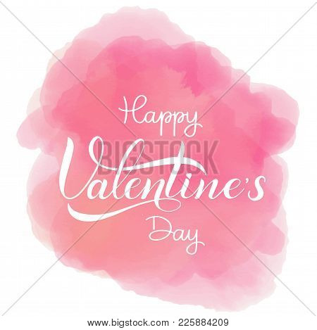 Happy Valentines Day Romantic Text, Calligraphic I Loveyou Lettering