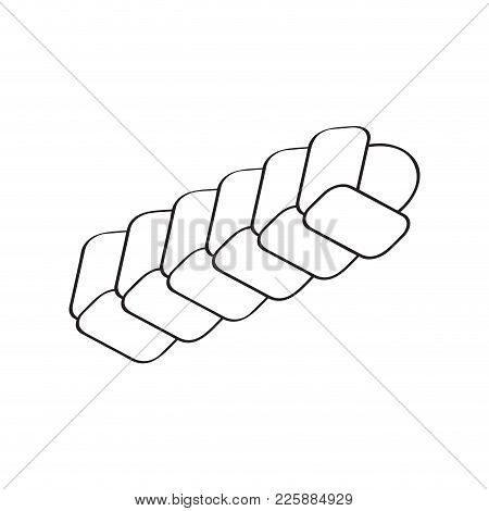 Isolated Braided Bread Icon. Vector Illustration Design