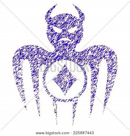 Grunge Gambling Spectre Devil Rubber Seal Stamp Watermark. Icon Symbol With Grunge Design And Dust T