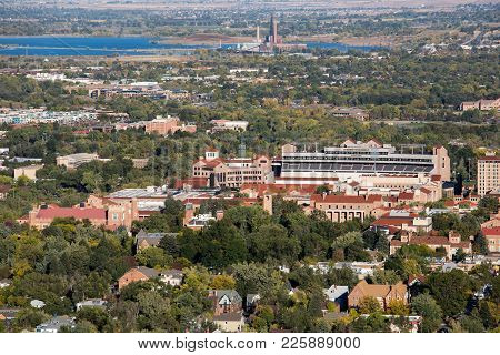 Boulder City University  View From Mountains. Colorado
