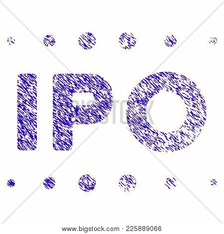 Grunge Ipo Caption Rubber Seal Stamp Watermark. Icon Symbol With Grunge Design And Dirty Texture. Un