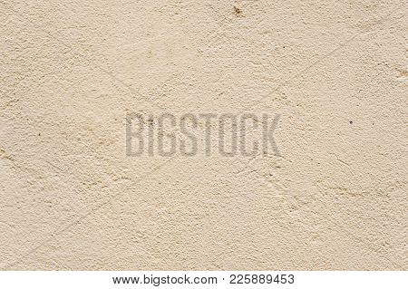 Texture Beige Dyed Cemented Wall, Softly Lined. Exterior Texture Exterior Finish Of External Walls.