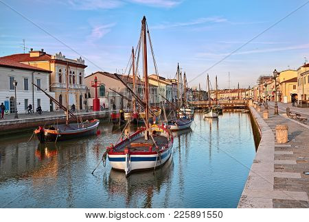 Cesenatico, Emilia Romagna, Italy - February 2, 2018: The Port Canal Designed By Leonardo Da Vinci I