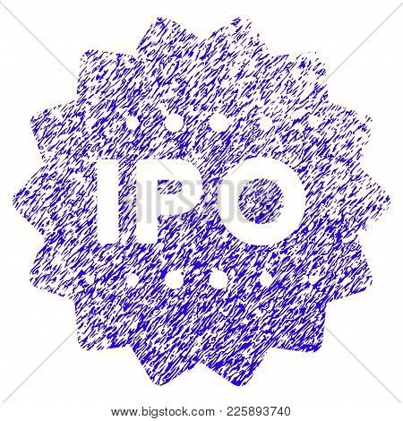 Grunge Ipo Token Rubber Seal Stamp Watermark. Icon Symbol With Grunge Design And Dust Texture. Uncle