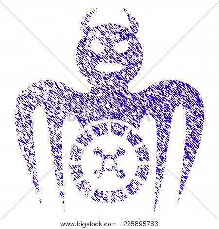 Grunge Roulette Spectre Devil Rubber Seal Stamp Watermark. Icon Symbol With Grunge Design And Dust T