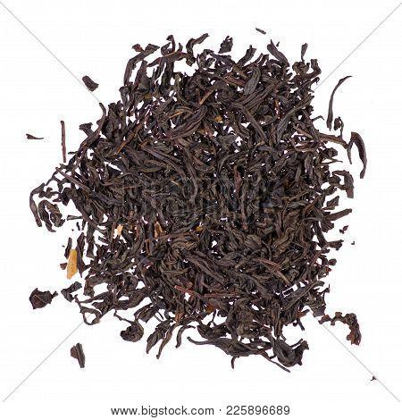 Leaf Tea With Fruit Isolated On White Background Isolation