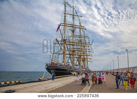 Sochi, Russia - April 29, 2015: Four-masted Bark Kruzenstern.