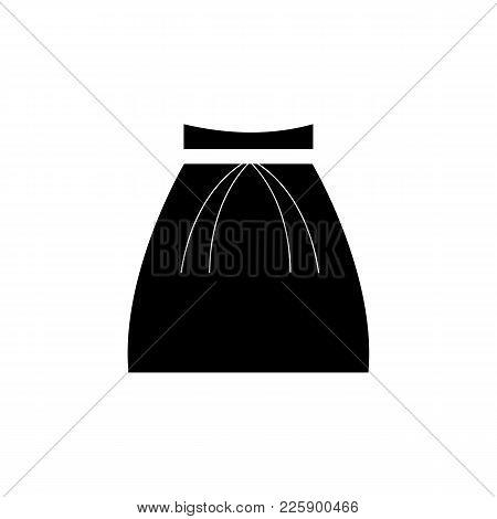 Fashion Skater Skirt Icon On White Background