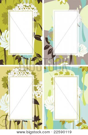 Floral composition. Vector illustration scale to any size. All elements and textures are individual objects.