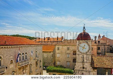 Trogir Town Loggia Tower Architectural View, Croatia,