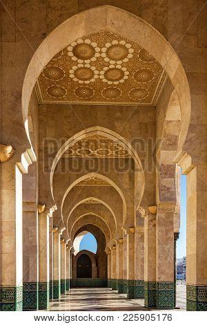 Casablanca Architecture, Morocco. Mosque Hassan Ii Arcade Gallery
