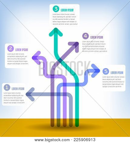 Colorful 5 Part Infographic For Print Or Web