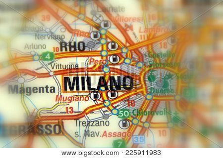 Milan, The Capital Of Lombardy, Italy (europe).