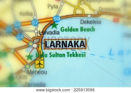 City Of Larnaka, On The Island Of Cyprus