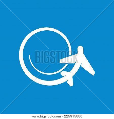 Cartoon Sketch Airplane Icon Vector Illustration. Airport Icon, Airplane Shape. Flat Airplane Icon.