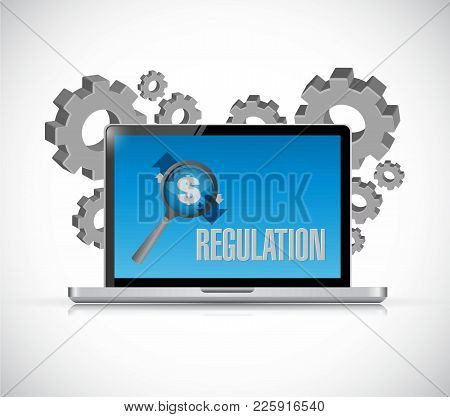 Business Venture_laptop_gears_around_text
